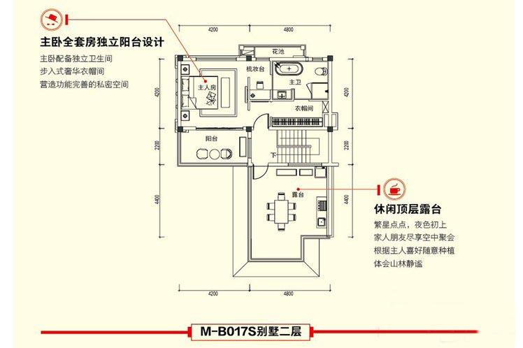 3室2厅4卫建面 约130平二层