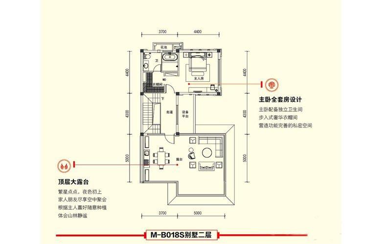 3室2厅4卫建面 约153平二层