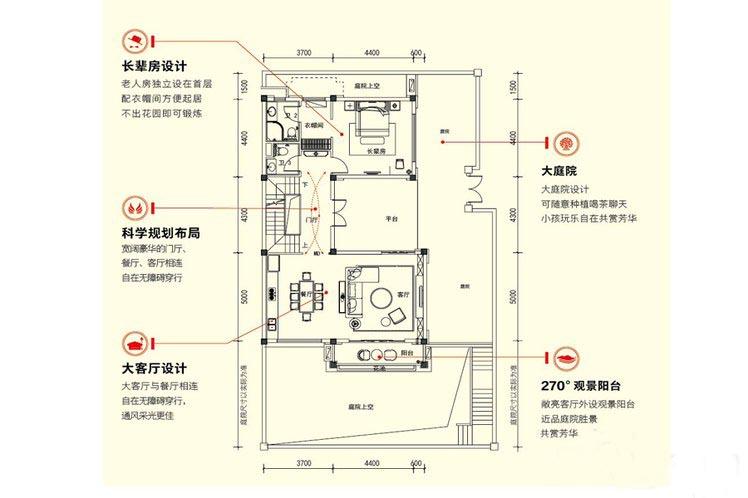 3室2厅4卫建面 约153平首层